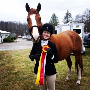 Olivia Rickards had a great weekend of showing with her two horses - She was Champion in the Adult Amateur on Hakuna Matata and Reserve Champion on Unwrapped in the Amateur Owner division at the Heritage Acres Stables horse show on December 7th.Congratulations!